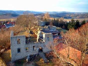 Ausblick von der Brennberger Burgruine