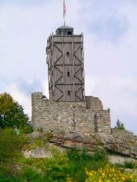 Turm der Burgruine Brennberg