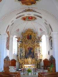 Innenansicht Kirche und Altar