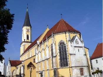 Stadt Kirche in Kelheim