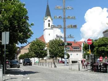 Stadtplatz und Kirche Kötzting