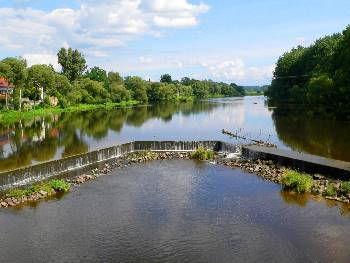 Nittenau - Blick von der Regen Brücke