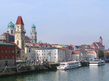 Idyllische 3 Flüsse Stadt Passau