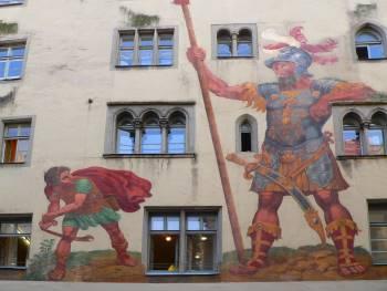 Bilder historischer Gebäude Bauwerke und Plätze in Regensburg - Goliath Haus