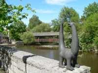 Sehenswürdigkeit in Schwandorf - Schwandorfer Dinosaurier an der Naab