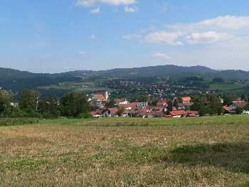 Blick auf Viechtach - Viechtacher Landschaft