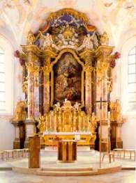 Bilder von Walderbacher Sehenswürdigkeiten - Klosterkirche Altar