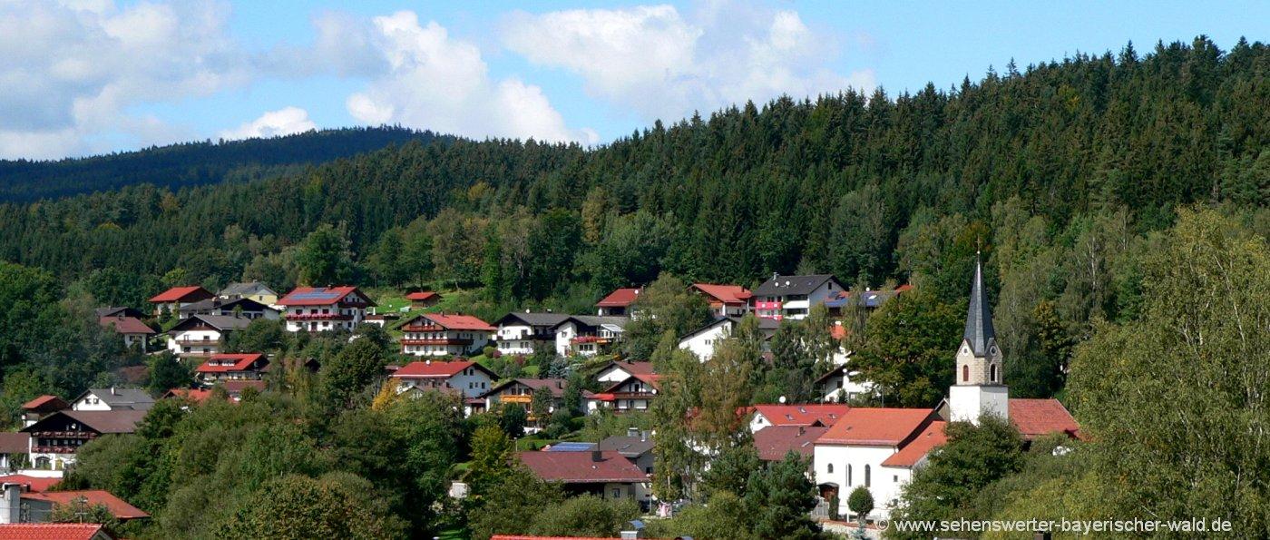 ortsansicht achslach sehenswürdigkeiten bayerischer wald ausflugsziele