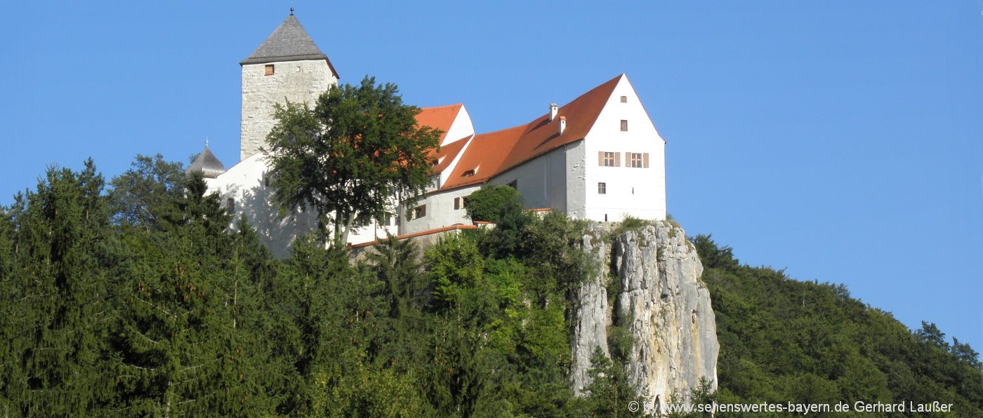 Altmühltal Burg Prunn Wandern, Klamm und Aussichtspunkt
