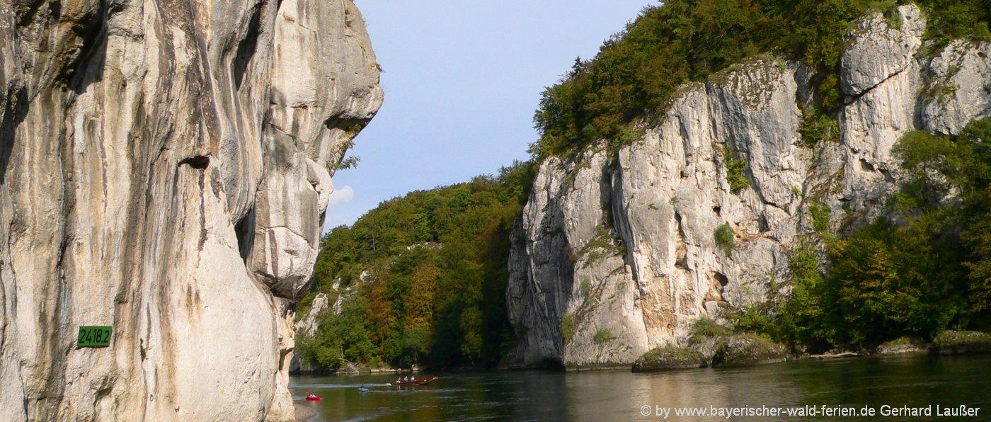 Sehenswürdigkeiten im Altmühltal Donaudurchbruch bei Kehlheim