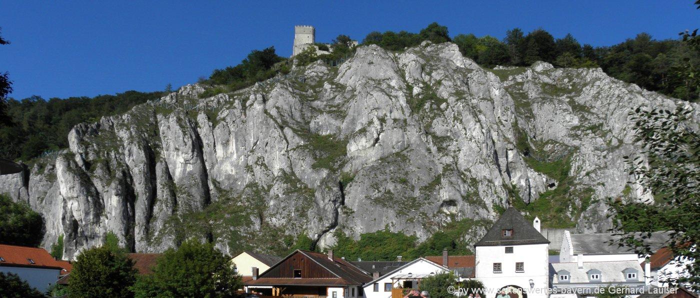 Altmühltal Besichtigung Burg Randeck in Essing Anfahrt & Parkplatz