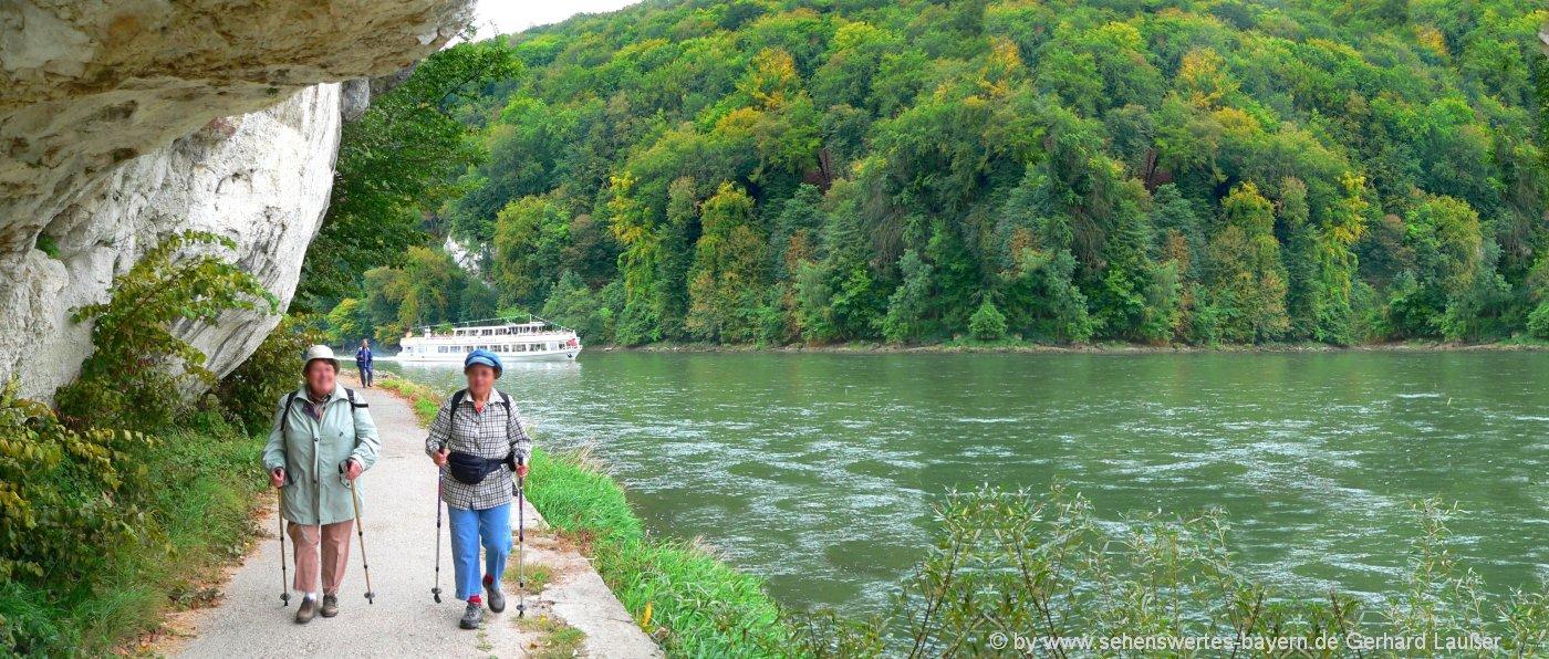 Wanderwege im Landkreis Kelheim - Wandern im Altmühltal durch den Donaudurchbruch nach Weltenburg