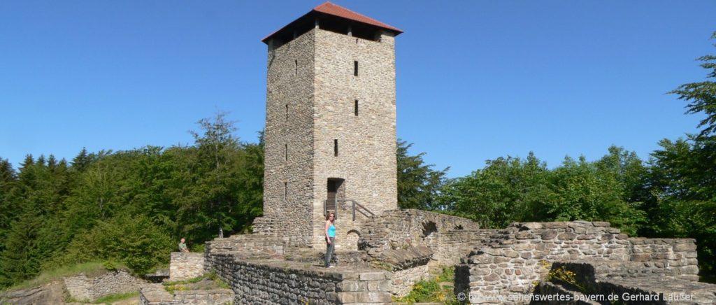 Altnussberg - Burgruine mit Aussichtsturm