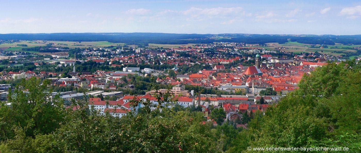 Amberg Mariahilfberg Wanderwege und Aussichtspunkt