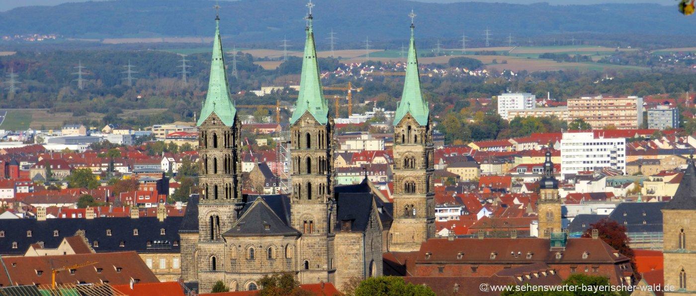 Ausflugsziele und Sehenswürdigkeiten in Bamberg und Umgebung