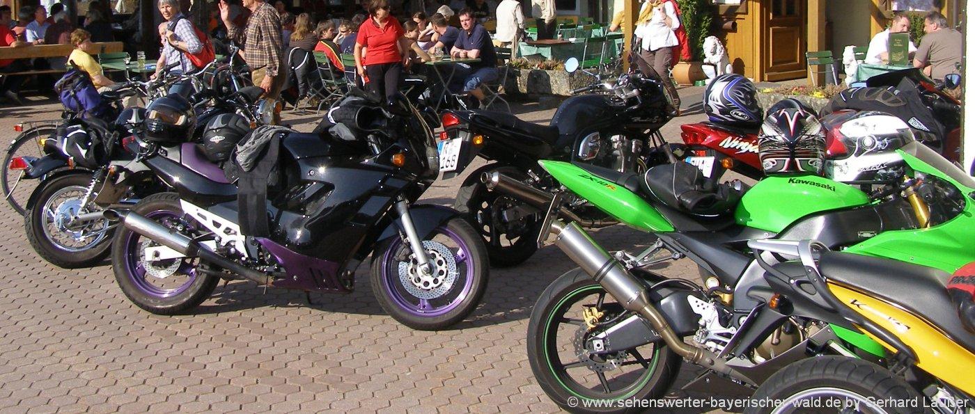 Motorradreisen in Bayern Bikerhotel Bayerischer Wald