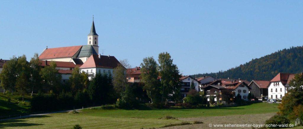 Sehenswürdigkeiten in Bischofsmais Ausflugsziele Kirche & Dorfansicht