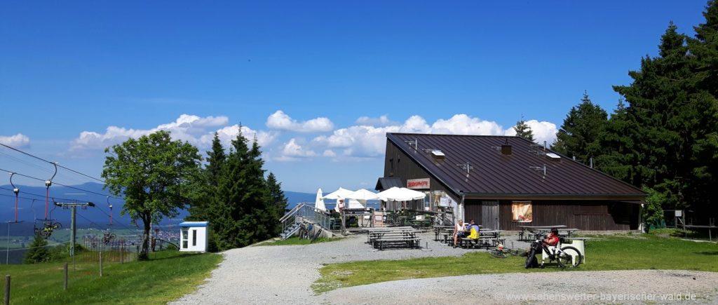 Bischofsmais Wanderung zum Geisskopf mit Berghütte & Aussichtsturm