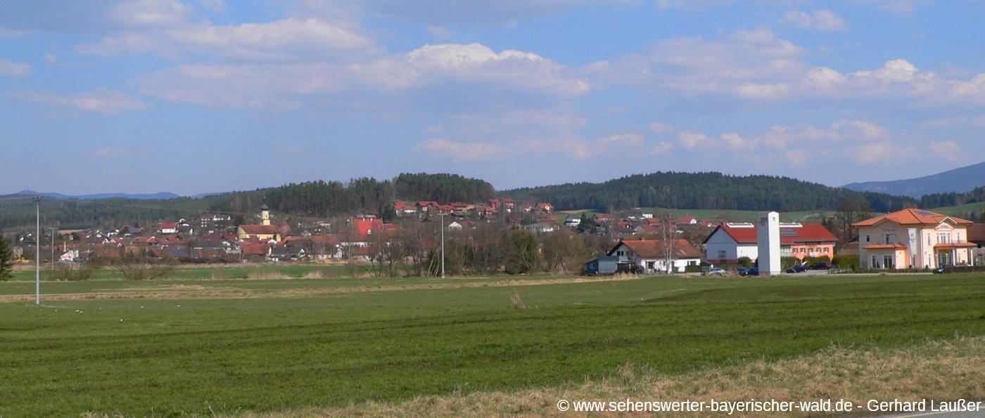 Ortsansicht Ausflugsziel Blaibach im Landkreis Cham
