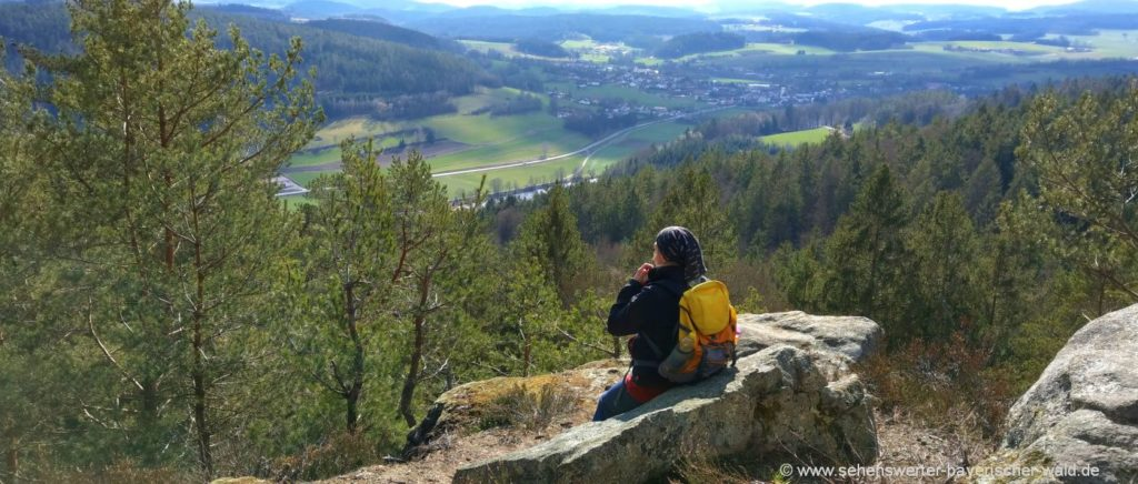 Rundweg ab Blaibach Predigtstuhl Miltach Jägerkreuz Aussichtspunkt