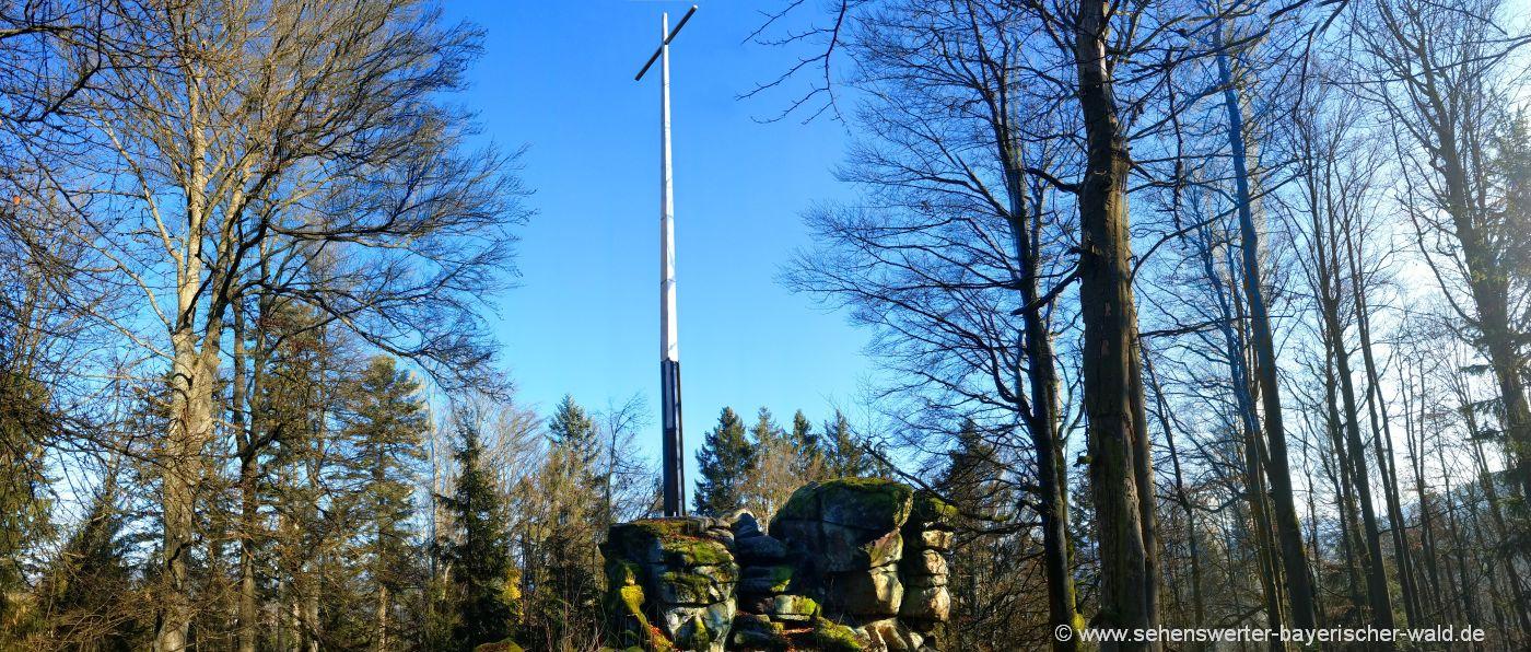 blaibach-predigtstuhl-wanderung-gipfelkreuz-rossberg