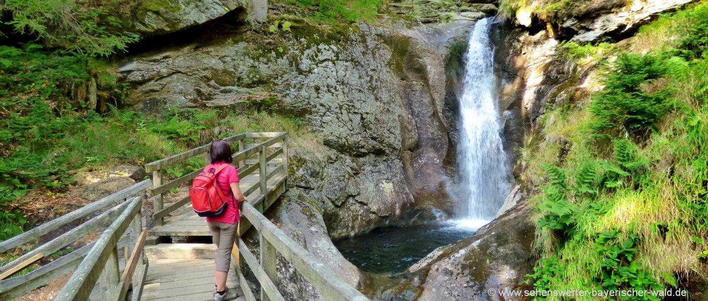 Ausflugstipps in Bayern Tagesausflüge Bayerischer Wald Wasserfälle bei Bodenmais