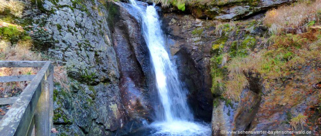 Wandern am Rundweg zum Hochfall Bodenmais Bayerischer Wald