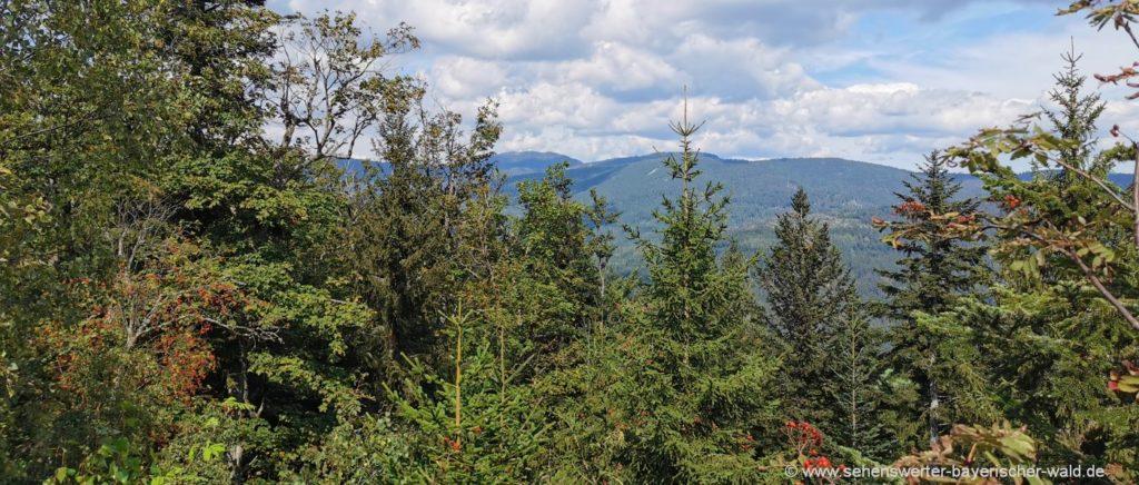 Aussichtspunkt Kronberg Gipfel Bayerischer Wald Rundwanderweg