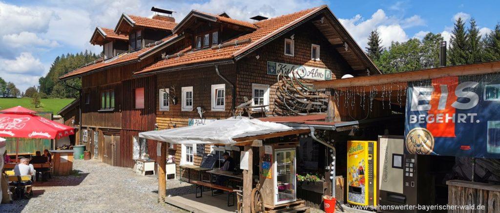 Rundweg zur Kuhalm Bodenmais Wanderung & Biergarten Ausflug