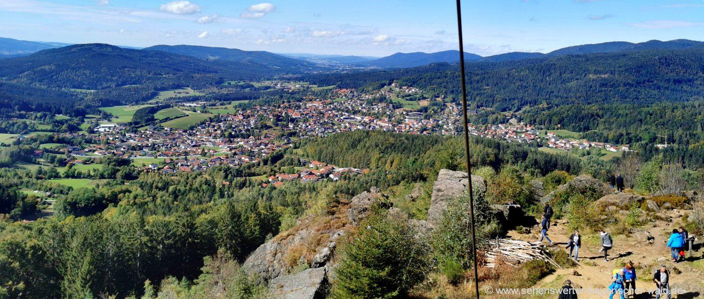 leichte Wanderungen in Niederbayern - Silberberg Bodenmais mit herrlicher Aussicht