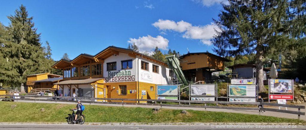 Talstation am Silberberg Ausgangspunkt Rundweg Silberberg