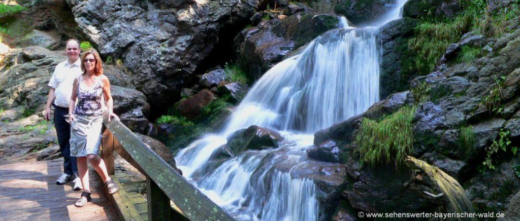 Wasserfall bei Bodenmais Kurort Bayerischer Wald