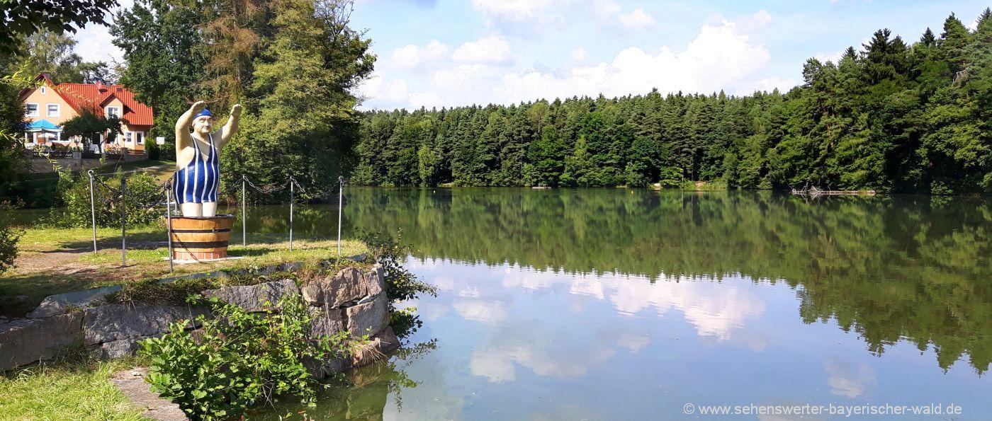 Kunst- und Wasserweg Bodenwöhr am Hammersee Badesee
