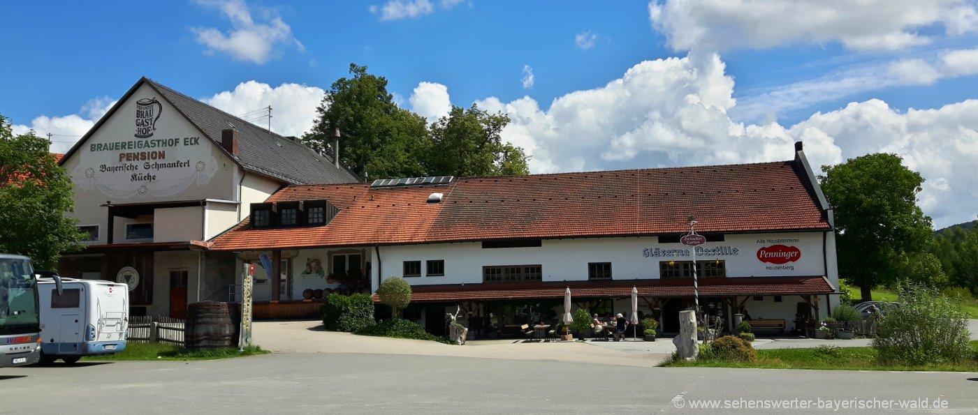 Gläserne Destille in Böbrach Schnapsverkostung beim Penninger