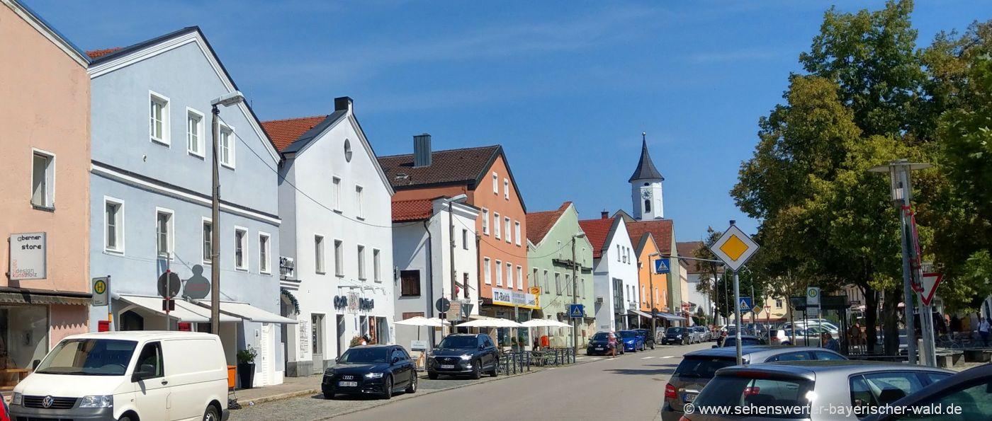 Ausflugsziele und Sehenswürdigkeiten in Bogen in Niederbayern