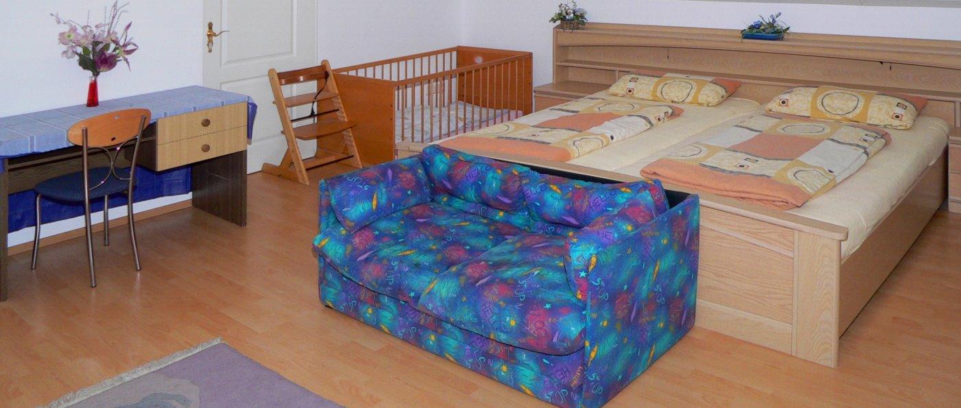 Zimmer der Ferienwohnung in idyllischer Lage im Bayerischen Wald