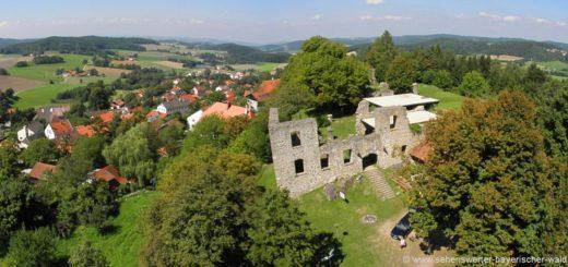brennberg-burgruine-aussichtsturm-ausblick-ortschaft