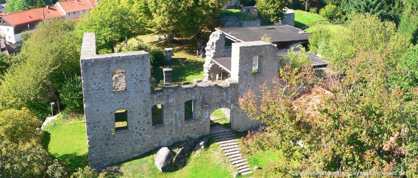 Ruine Brennberg Burganlage in der Oberpfalz Mauerreste