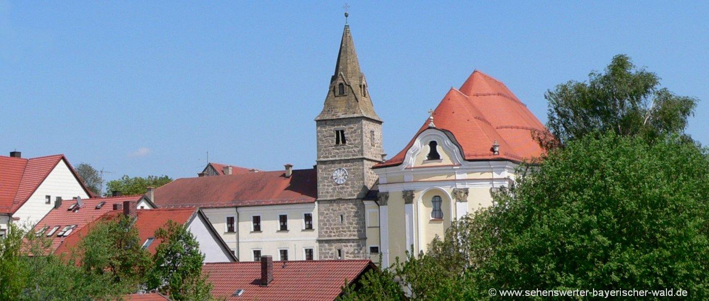 Ausflugsziele bei Brennberg Sehenswürdigkeit Kloster Frauenzell