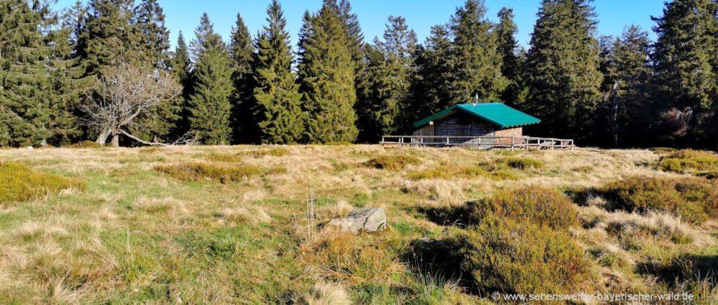 Hütte auf den Hochzellschachten Rundweg Hochzellberg