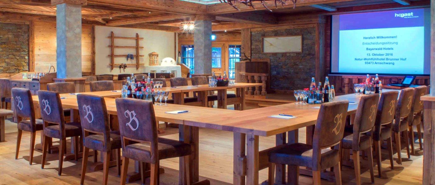 Tagungshotel Brunnerhof Tagungsraum für Firmenevent, Seminare, Tagungen und Workshops