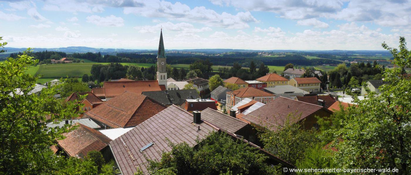 sehenswürdigkeiten in Büchlberg Aussichtspunkt Bergholz Naturdenkmal