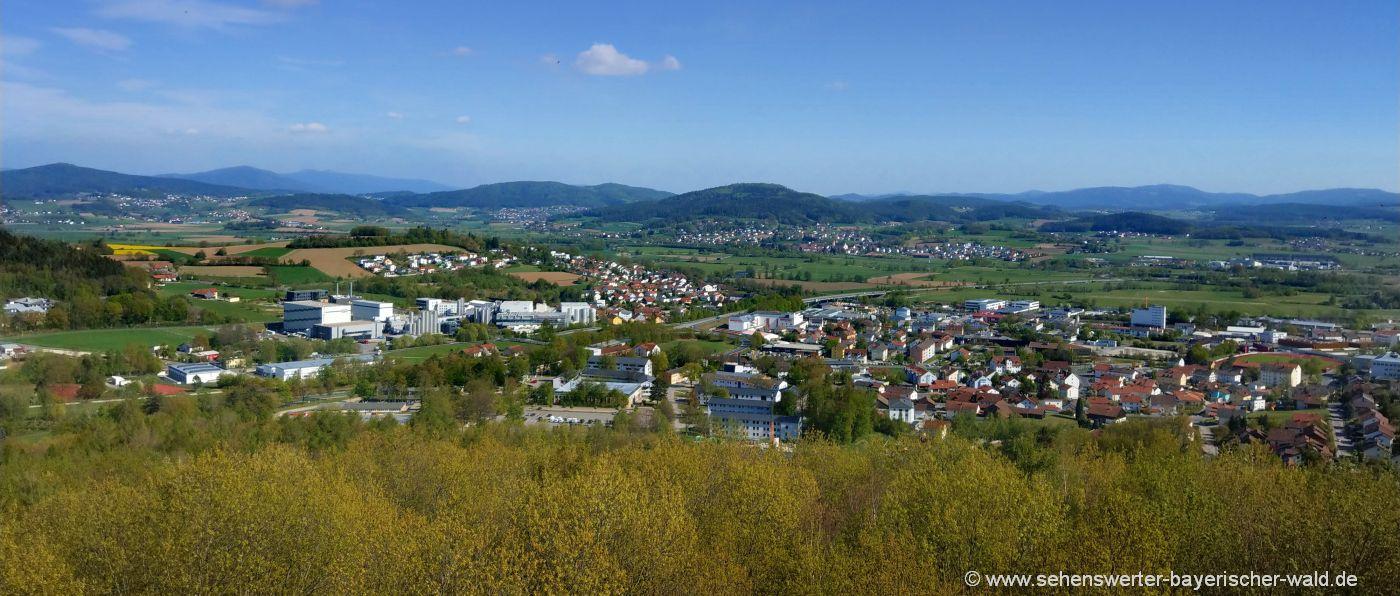 Aussichtspunkte Bayerischer Wald Aussichtsturm in der Oberpfalz bei Cham