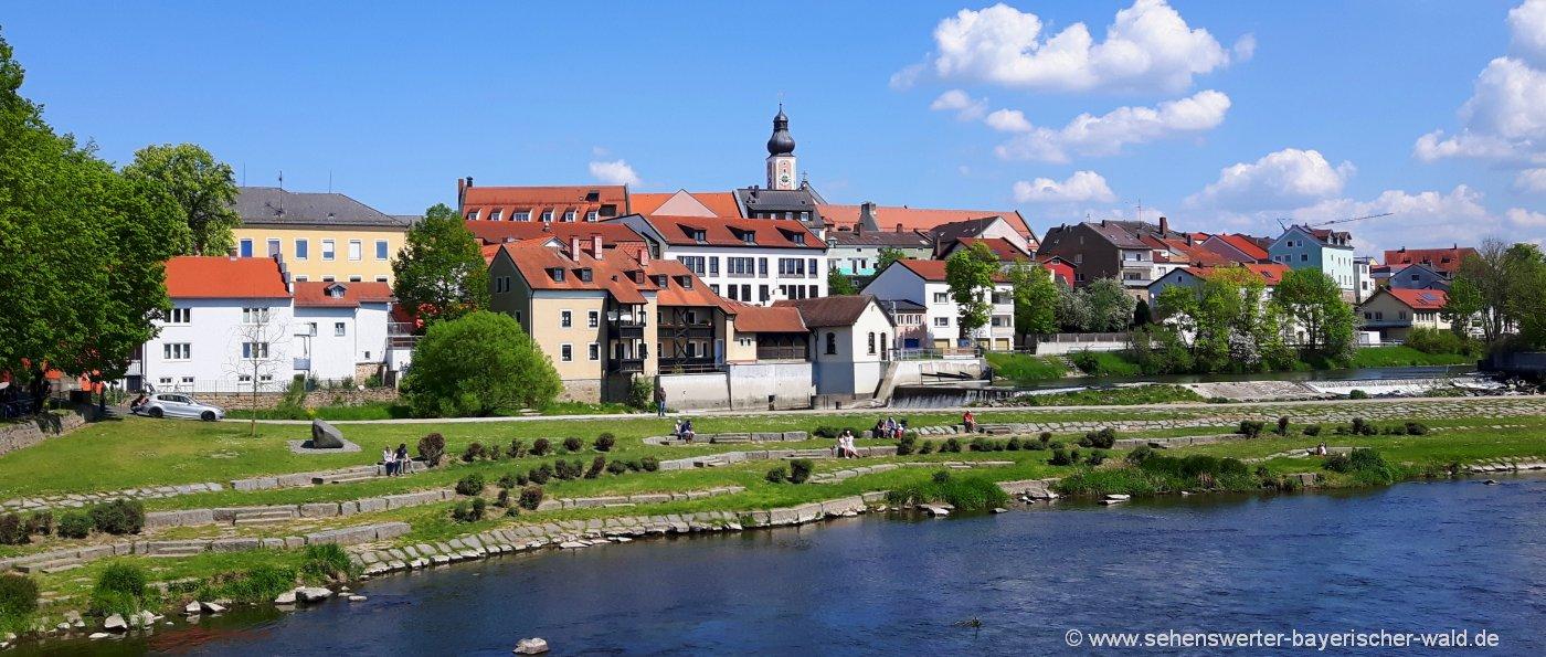 cham-unterkunft-oberpfalz-ausflugsziele-sehenswürdigkeiten-stadtansicht
