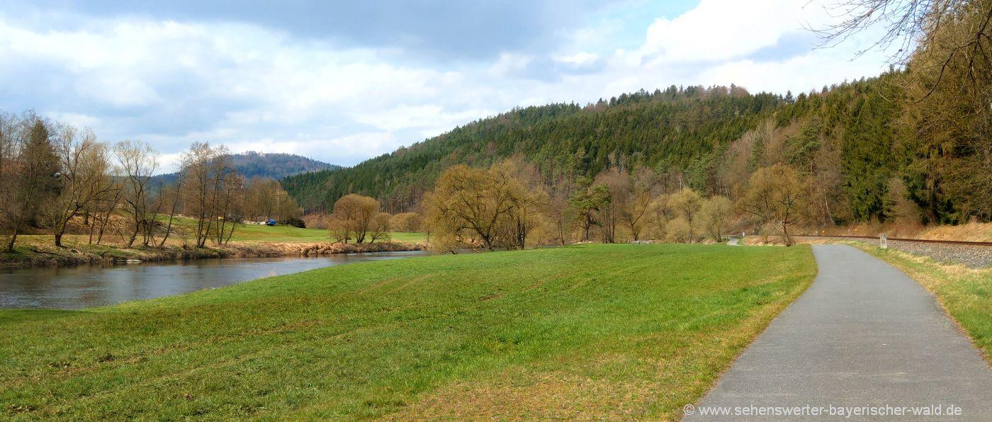 Wanderweg von Chamerau nach Miltach Rundweg über Gillisberg