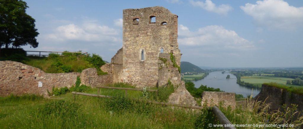 Sehenswürdigkeit Burgruine Donaustauf Aussichtspunkt und Ausflugsziel