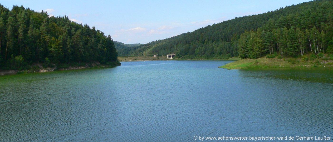 Schöne Seen in der Oberpfalz Naturbäder & Badeseen im Oberpfälzer Wald