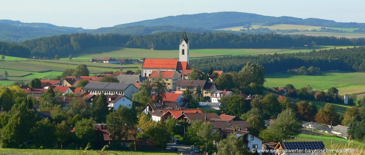 Sehenswürdigkeiten und Ausflugsziele in Eschkam im Oberen Bayerischen Wald