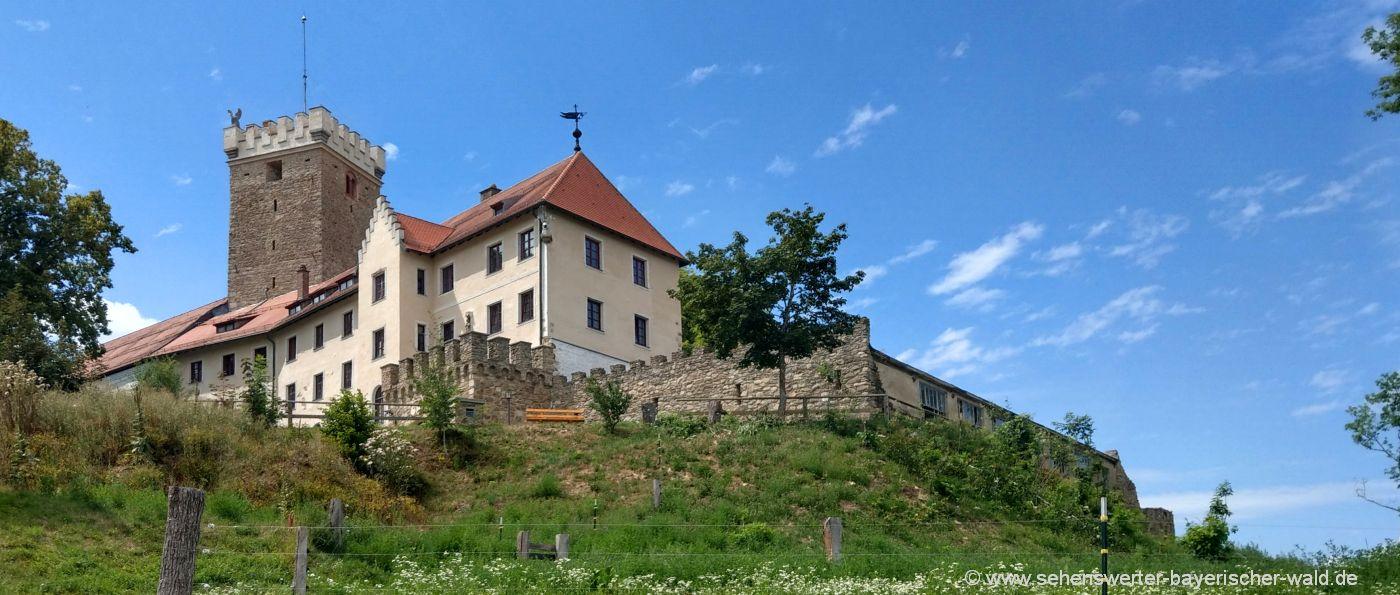 Falkenfels Burg und Cafe Öffnungszeiten und Besichtigung