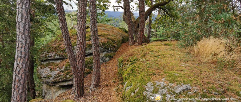 Aussichtsfelsen am Rundweg Falkenstein Aussichtspunkt nach Marienstein